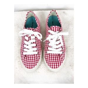 SeaVees Red and White Gingham Sneakers - 8.5